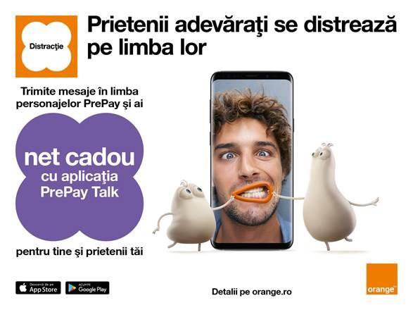 Internet cadou şi distracţie cu prietenii, cu noua aplicaţie PrePay Talk de la Orange