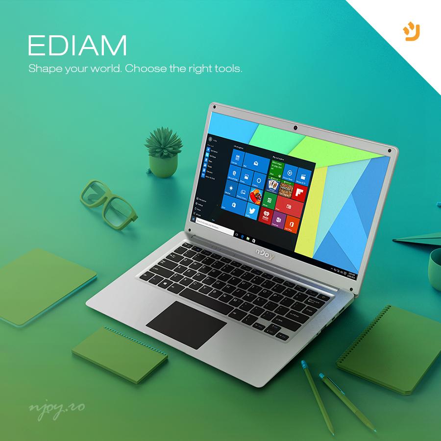 Ediam, al doilea produs din gama de laptopuri nJoy