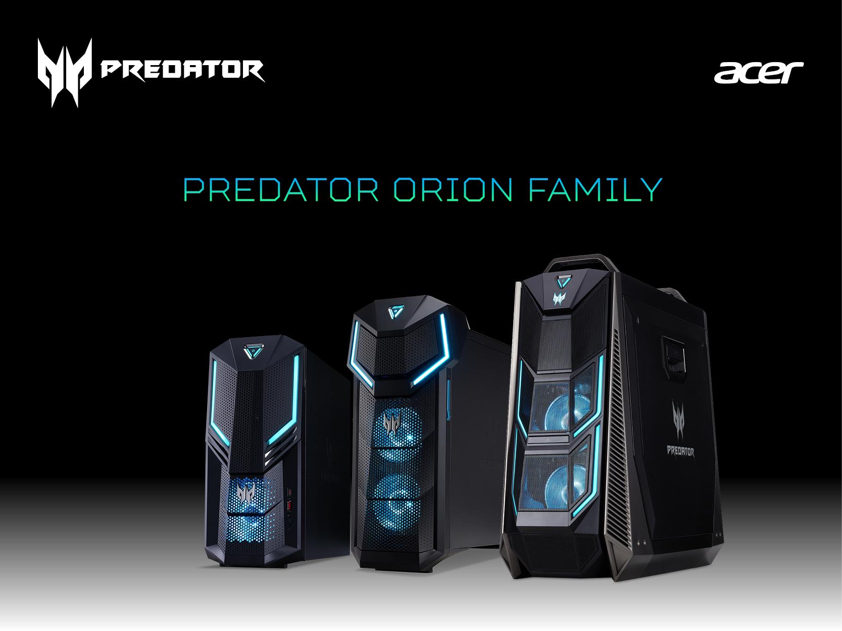 Suportul Acer oferit pentru NVIDIA GeForce RTX pe gama Predator Orion
