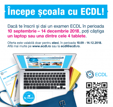 Competențele IT obligatorii la școală. Concurs ECDL. #BackToSchool