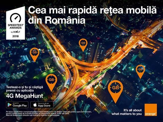 Orange Romania – cea mai rapidă rețea mobilă din țară conform rezultatelor comparative
