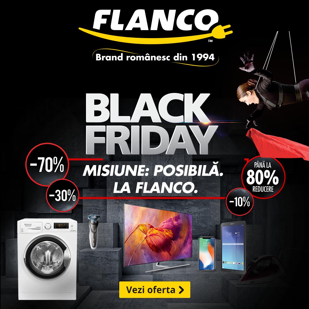 Black Friday începe mâine la Flanco
