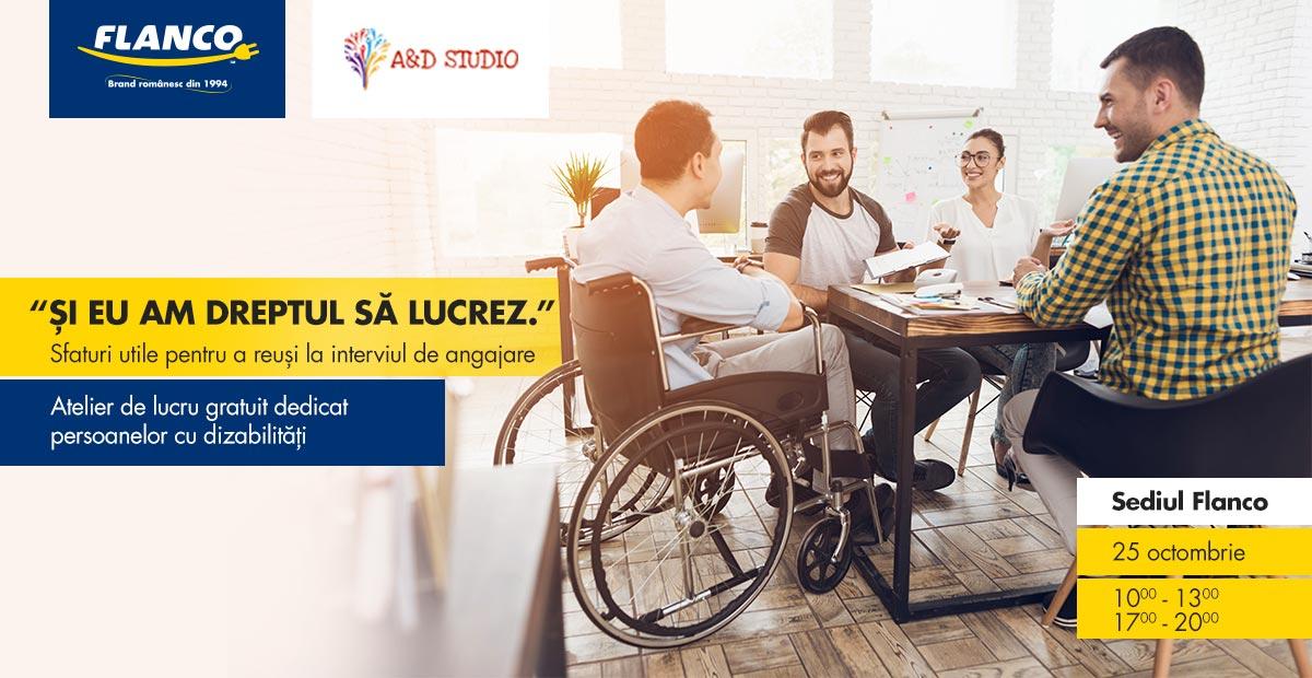 Flanco și A&D Studio oferă persoanelor cu dizabilități ateliere gratuite de pregătire pentru piata muncii