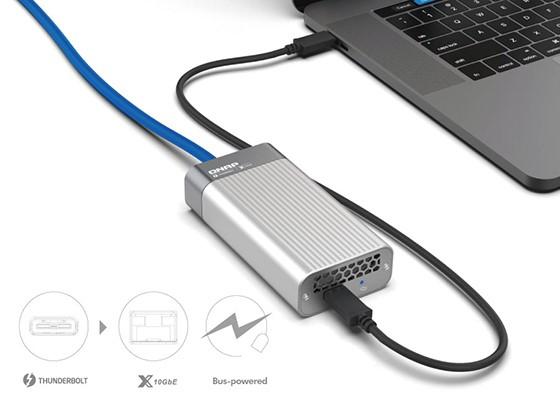 QNAP lansează adaptoarele QNA, de la Thunderbolt 3 la 10GbE, pentru sistemele Windows și Mac
