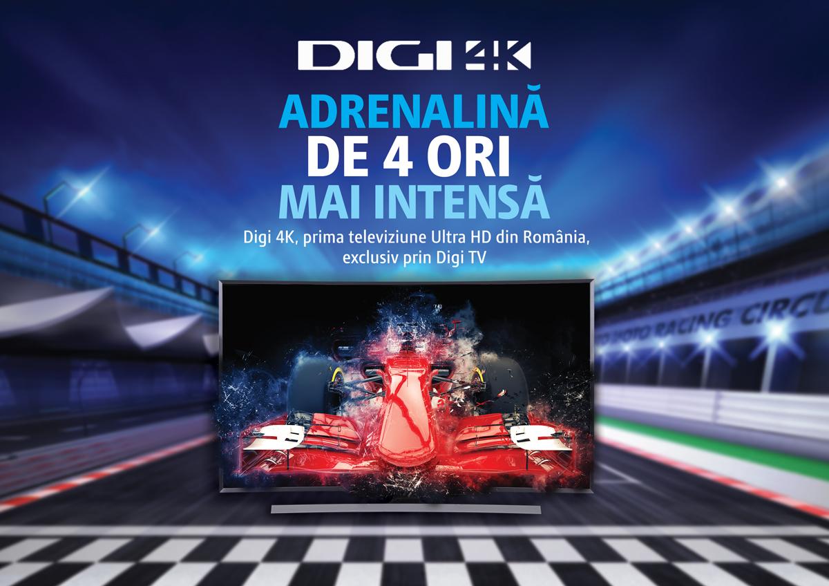 Digi 4K, prima televiziune 4K din România