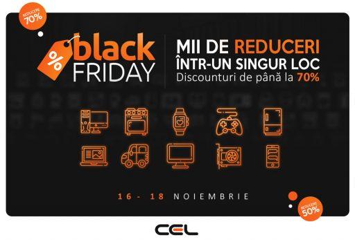 Black Friday pe 16 noiembrie la CEL.ro