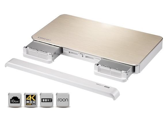 Noul QNAP Silent NAS (HS-453DX) pentru acasă oferă procesare quad-core, ieșire video 4K pe HDMI 2.0, M.2 SSD Caching și conexiune 10GbE