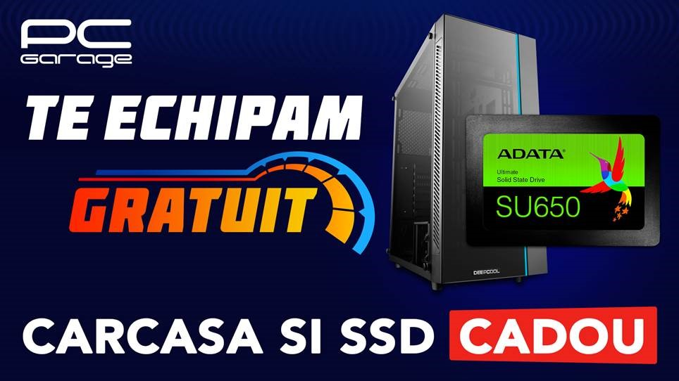 PC Garage oferă clienţilor carcasă și SSD cadou la configurarea unui nou PC