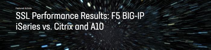 F5 BIG-IP: Cea mai bună performanță SSL