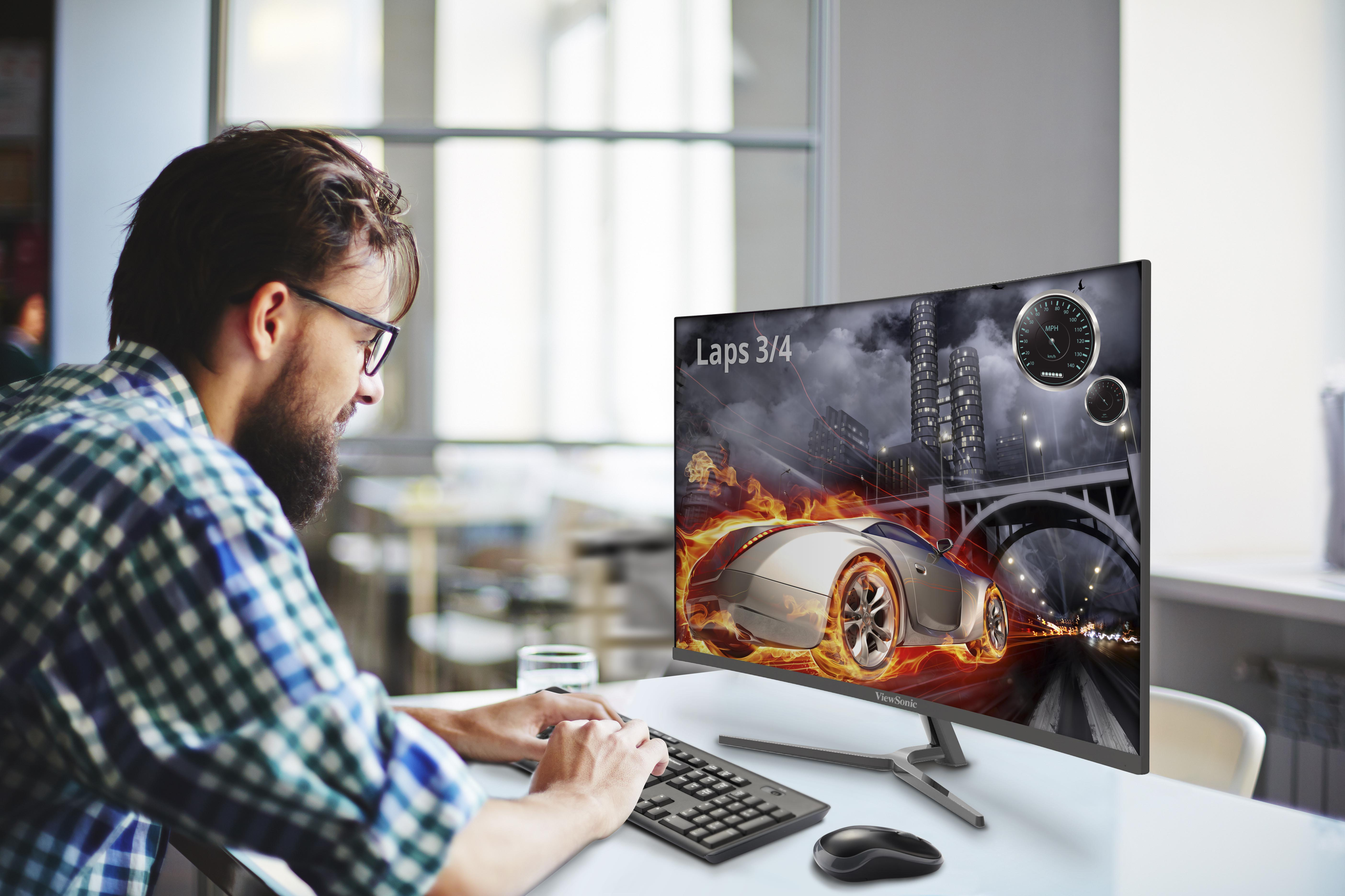 ViewSonic lansează seria VX58 de monitoare curbate