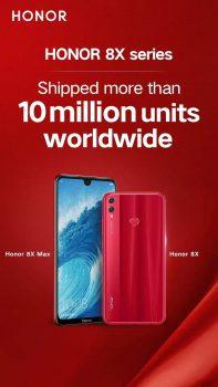 10 milioane de unități HONOR 8X vândute pe piața globală