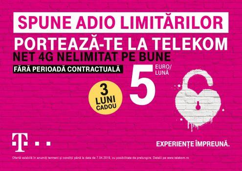 Telekom Romania: Ofertă de portare cu trei luni gratuite la abonament mobil