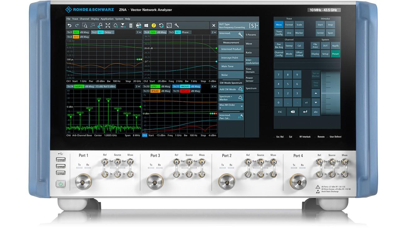 Noul analizor de rețea vectorial high-end R&S ZNA combină performanțele deosebite de RF cu un concept de operare unic