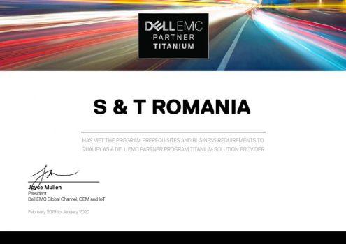 S&T Romania a devenit DELL EMC Titanium Partner