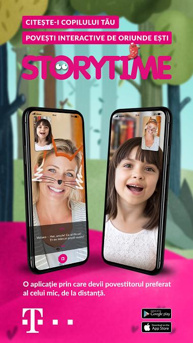 Telekom Romania aduce părinții și copiii mai aproape, cu ajutorul aplicației Storytime