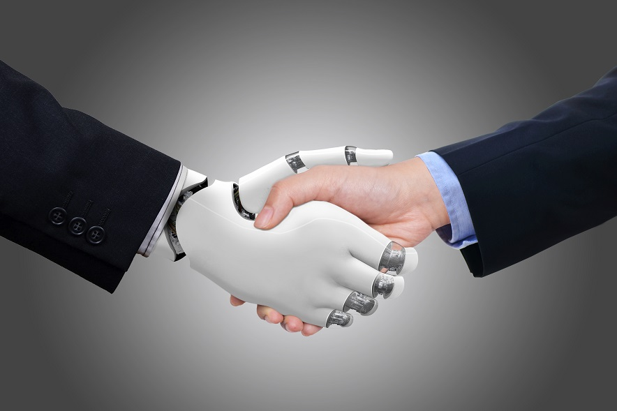 Handshake, Human Hand, Robot, People, Technology, Android