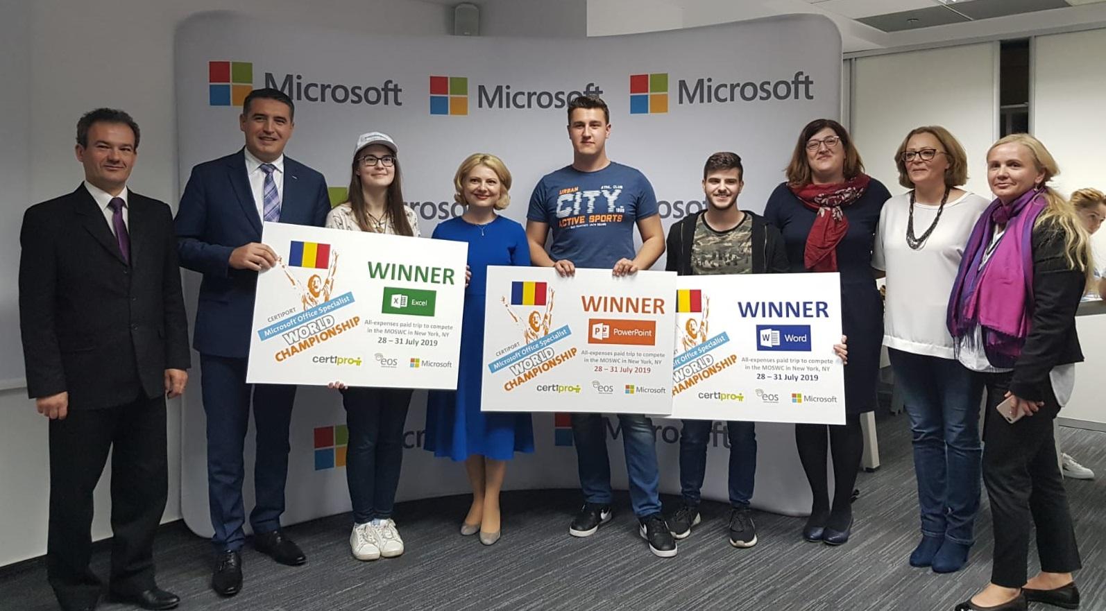 Competențe digitale pentru finala CM Microsoft Office Specialist 2019