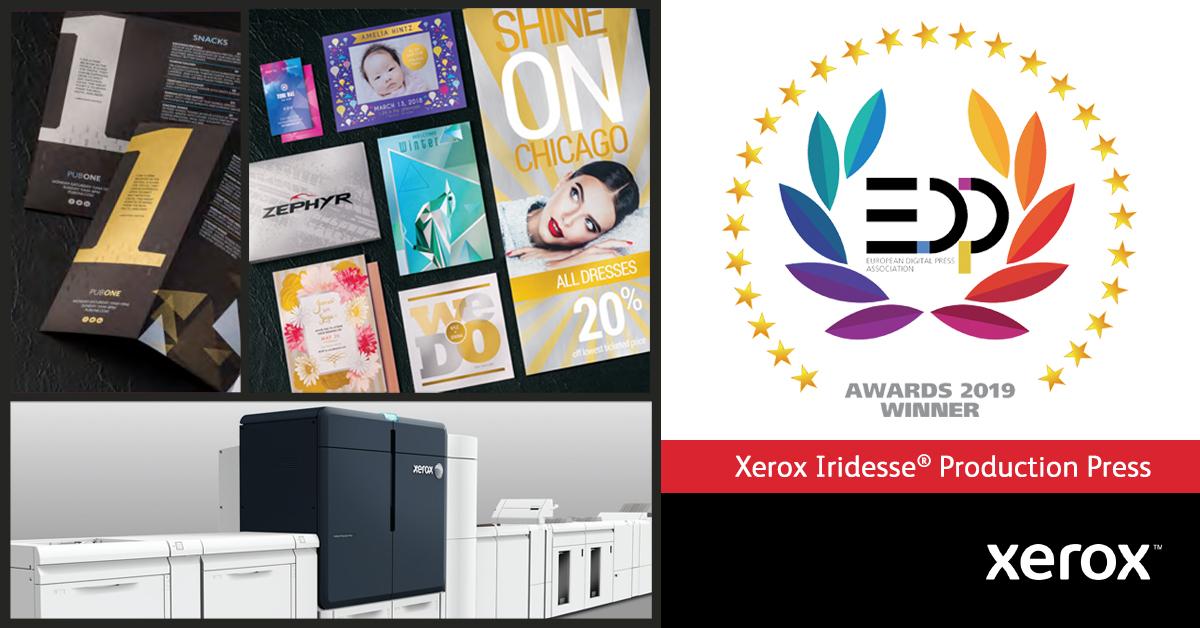 Presa Xerox Iridesse câștigă un premiu pentru inovație în producția digitală