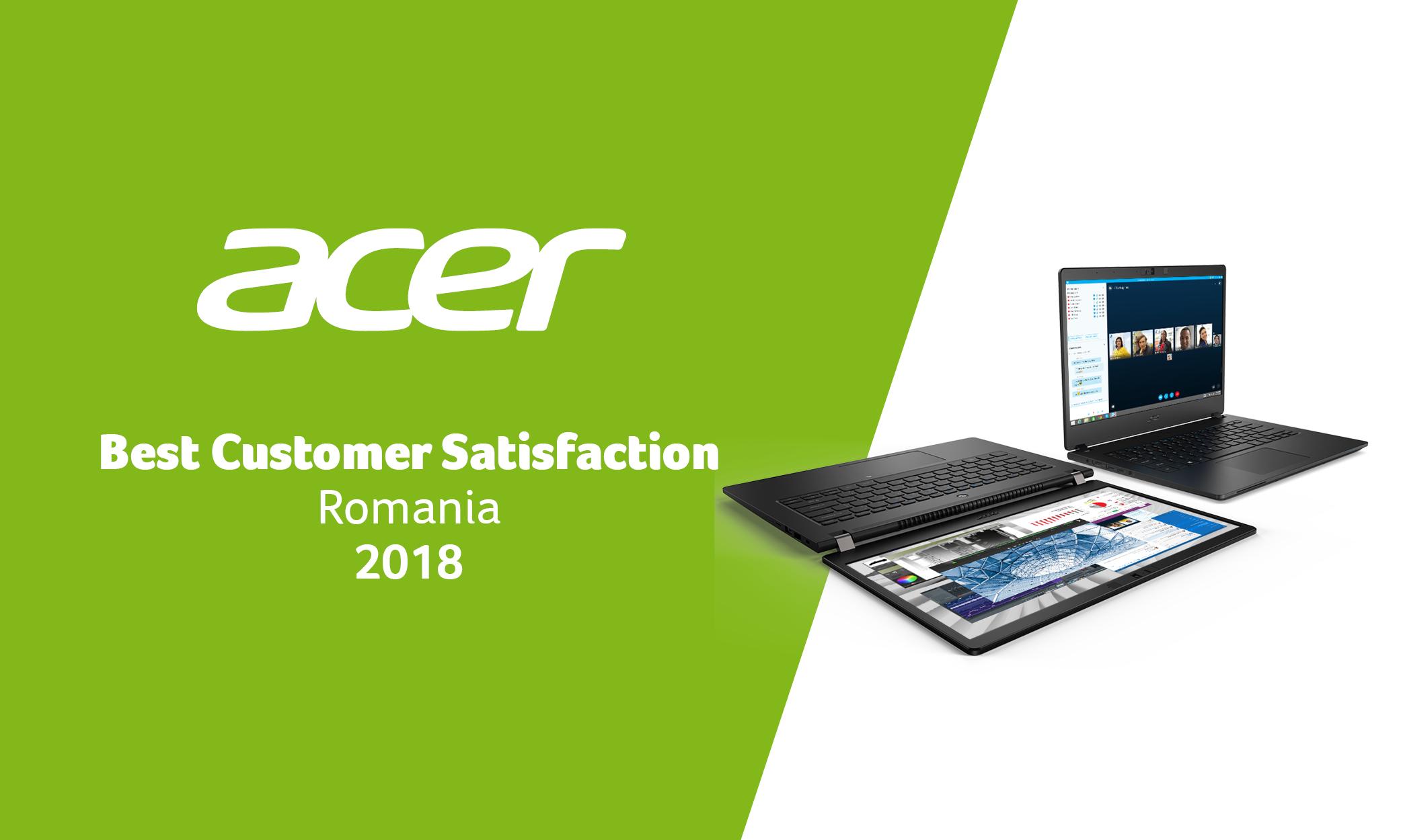 Acer: lider în România, cu cei mai mulțumiți clienți