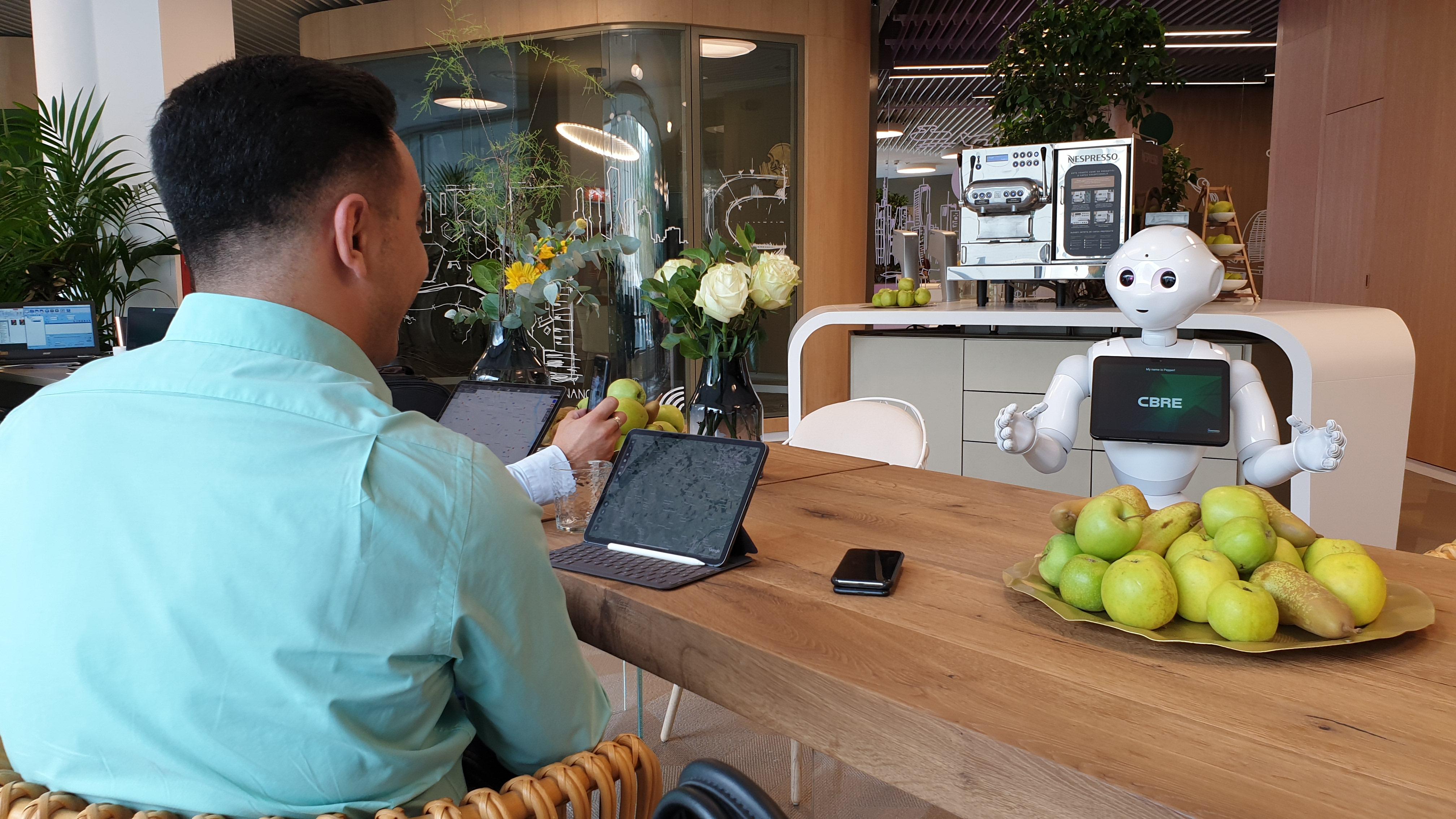 PepperEscu, primul robot care lucrează într-o companie imobiliară