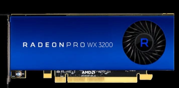 AMD Radeon Pro WX 3200, o placă video puternică, de dimensiuni reduse, destinată profesioniștilor