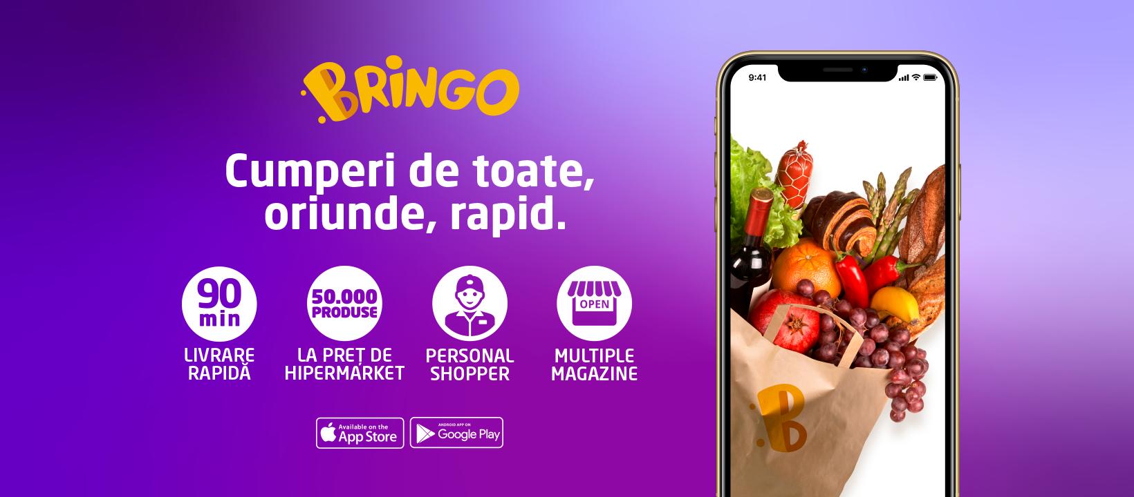 Bringo își extinde aria de livrare în 23 de orașe
