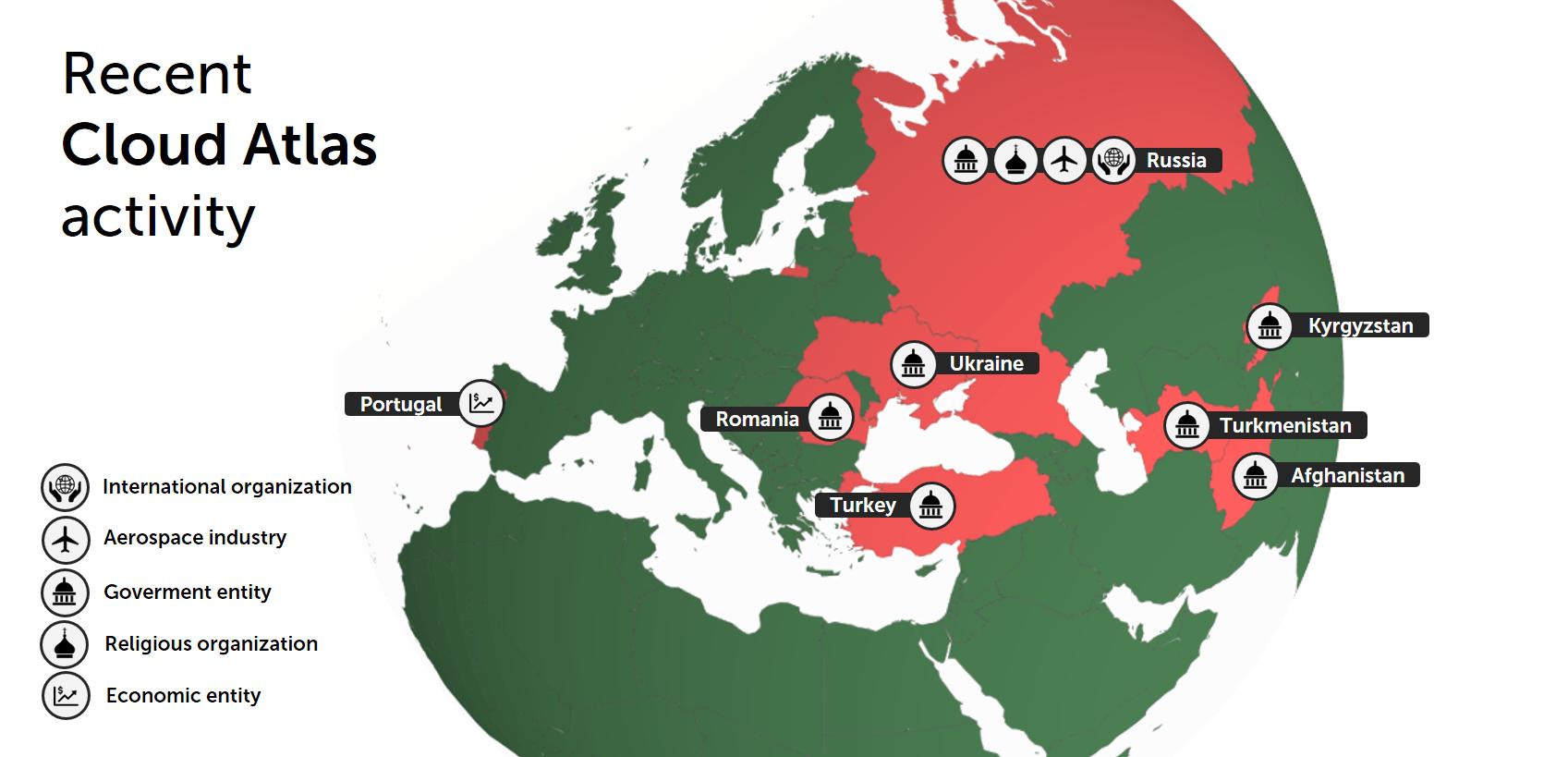 România se numără printre țările în care grupul APT Cloud Atlas a lansat recent atacuri