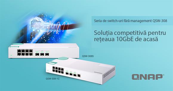 QNAP a lansat switch-urile QSW-308-1C și QSW-308S