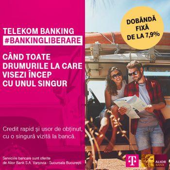 Noua ofertă de creditare Telekom Banking pentru persoane fizice