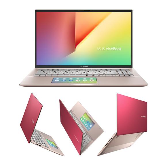 ASUS aduce VivoBook S15 (Punk Pink) cu ScreenPad 2.0 și edițiile Peacock Blue/Coral Crush ale laptopului VivoBook 15