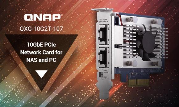 QNAP lansează QXG-10G2T-107, o placă de rețea 10GBASE-T dual-port pentru NAS și PC