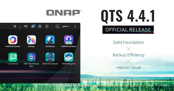 Sistemul QNAP QTS 4.4.1 pentru NAS-uri, cu suport pentru Hybrid Cloud Storage și conectivitatea prin fibră optică