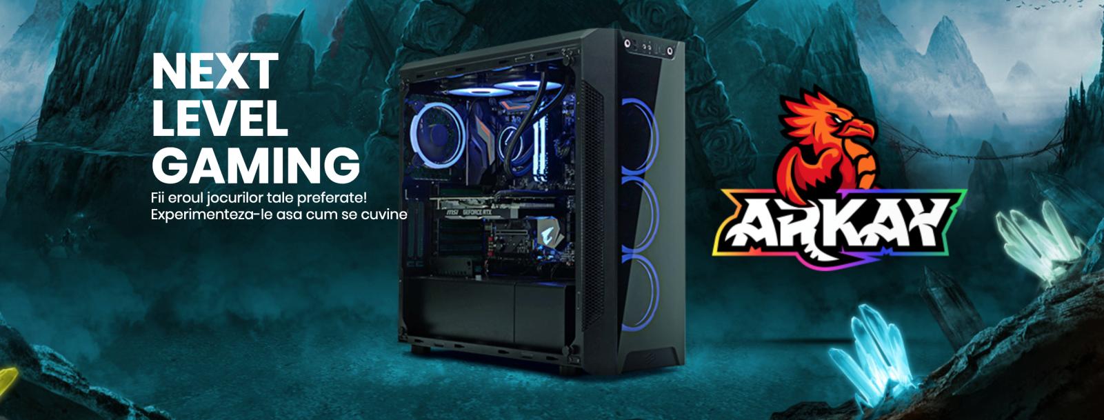 PC Garage Arkay garantează performanțe optime,  în cele mai populare jocuri