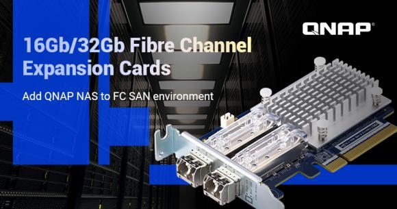 Plăcile QNAP Fibre Channel Dual Port 16Gb/32Gb pot adăuga dispozitivelor NAS conectivitatea prin fibră optică