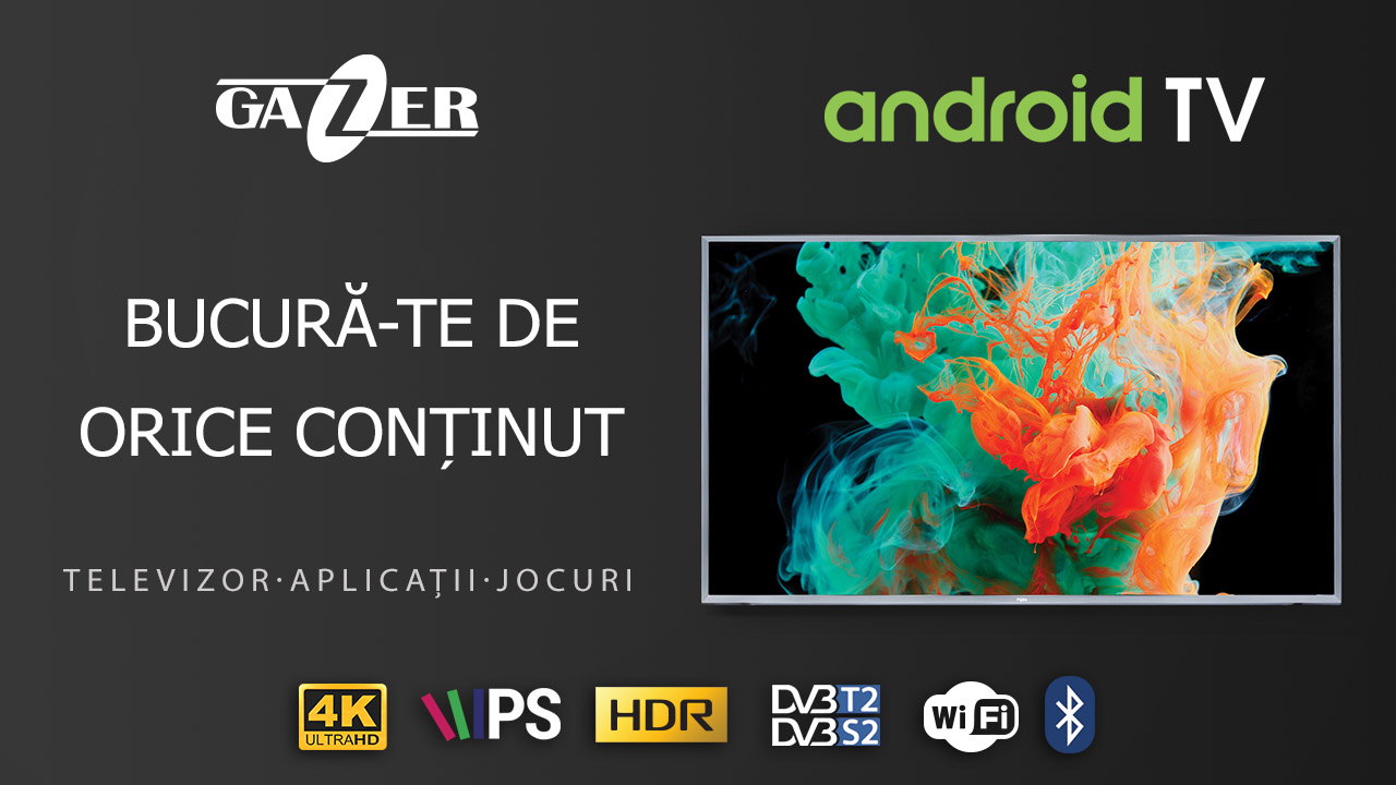 Gazer actualizează specificațiile televizoarelor Smart TV