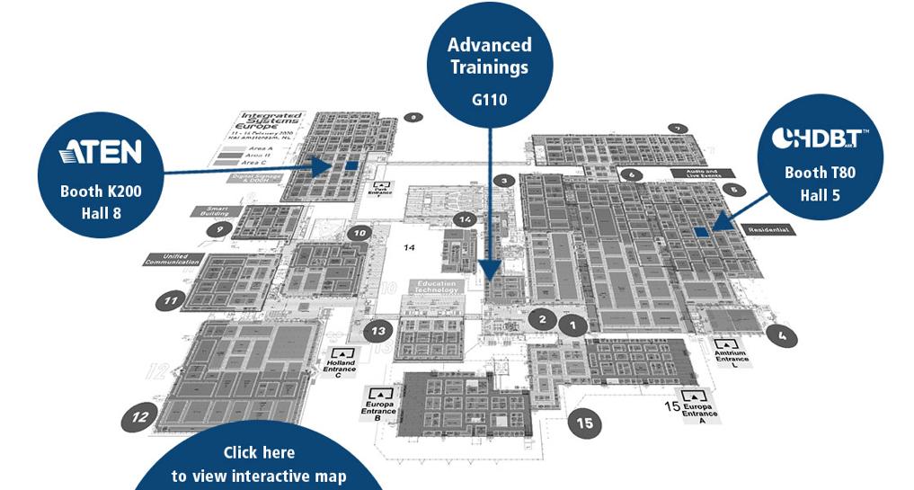 ATEN va prezenta noi soluții AV/IT la ISE 2020