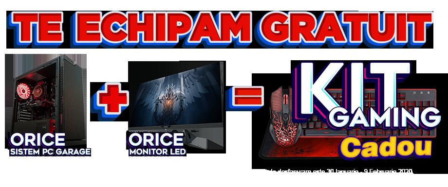 PC Garage oferă cadou un kit de gaming, la orice achiziţie de sistem plus monitor