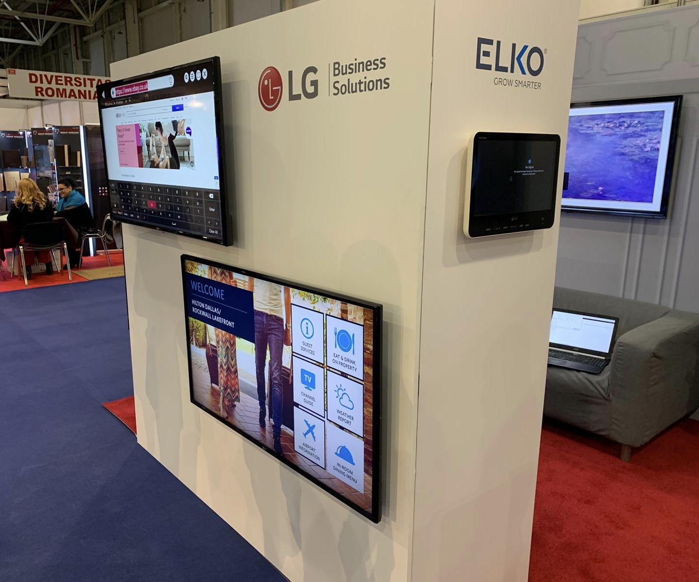 ELKO participă la RomHotel alături de LG Business Solutions