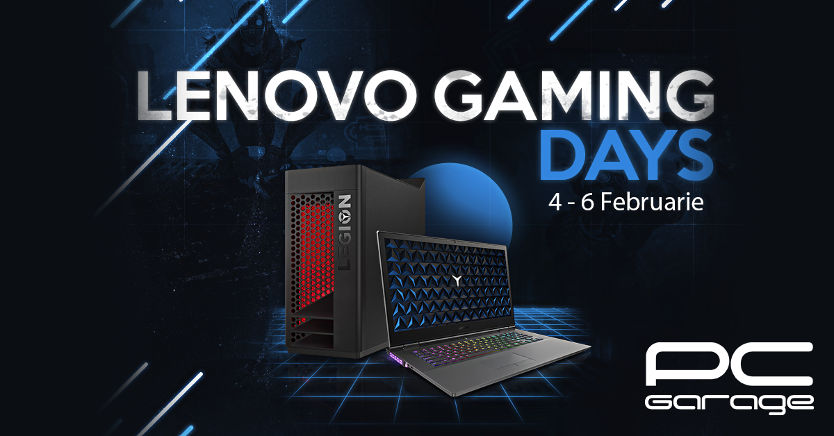 PC Garage & Lenovo Gaming Days: 3 zile cu extra reduceri!