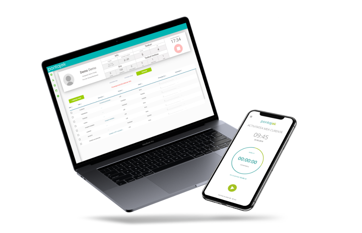 Antreprenorii au acces gratuit la aplicația PontajOK