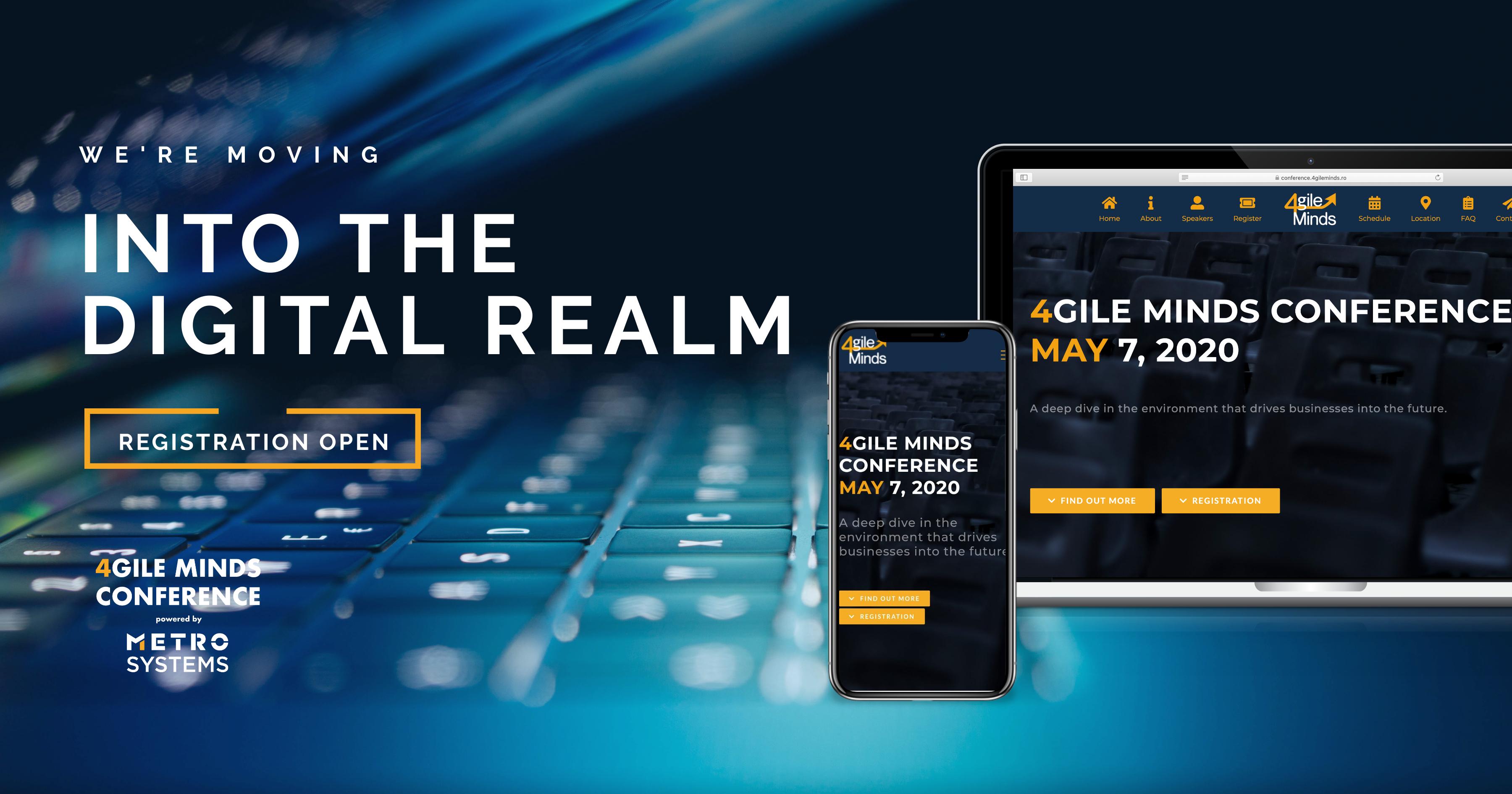 4GILE MINDS Digital Conference are loc online, pe 7 mai