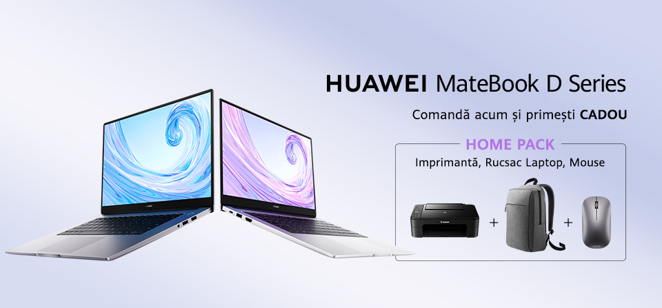 Laptopuri Huawei seria MateBook D, acum la ofertă specială