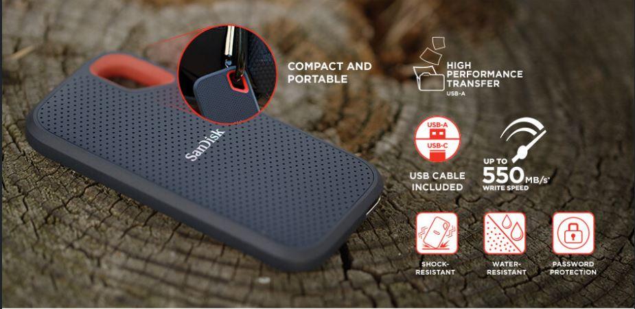 SSD-urile externe Sandisk Extreme Portable asigură portabilitatea și siguranța datelor