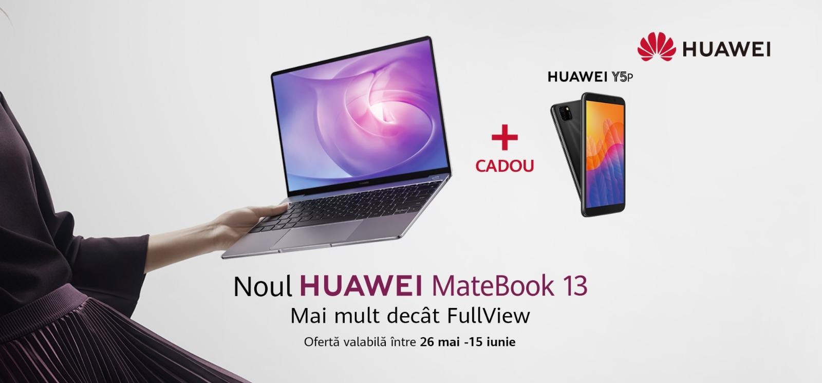 Noua generație de laptopuri Huawei MateBook 13 disponbilă pe piața din România