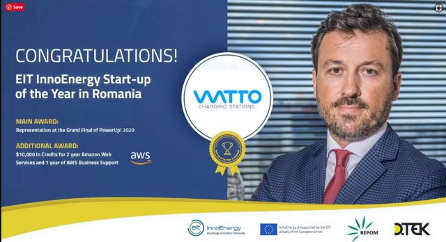 WATTO, 'Startup-ul anului în energie' din România