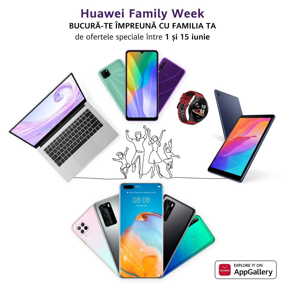 Huawei MateBook D 14 și Huawei Wi-Fi Q2 Pro, noi dispozitive care se alătură campaniei Family Week cu oferte speciale