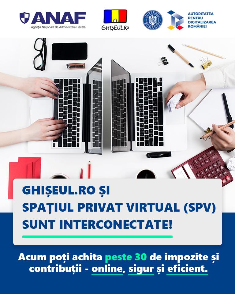 Ghișeul.ro și Spațiul Privat Virtual (SPV) sunt interconectate
