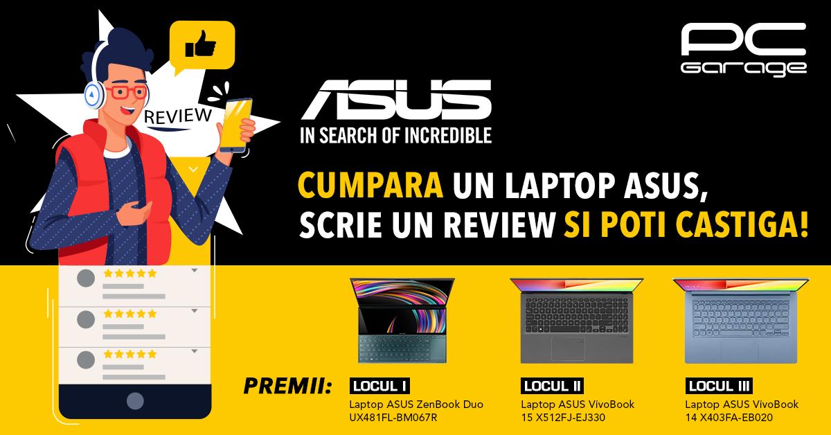 PC Garage și ASUS premiază părerea clienților