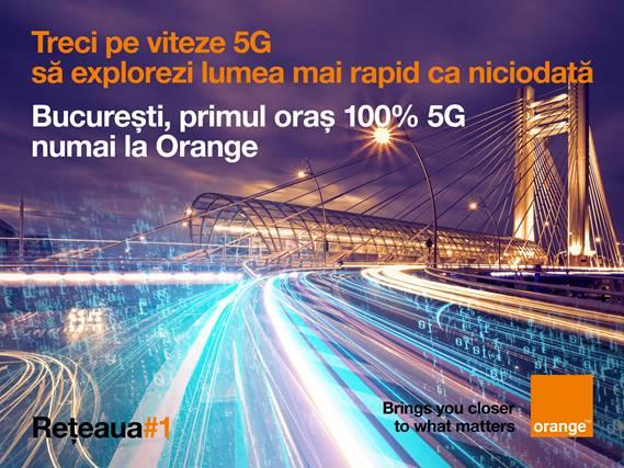 Bucureşti, primul oraş din România cu 100% acoperire 5G în reţeaua Orange