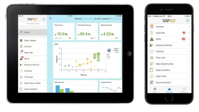 SAP Business One pentru Android şi iOS. Intraţi în era mobilităţii